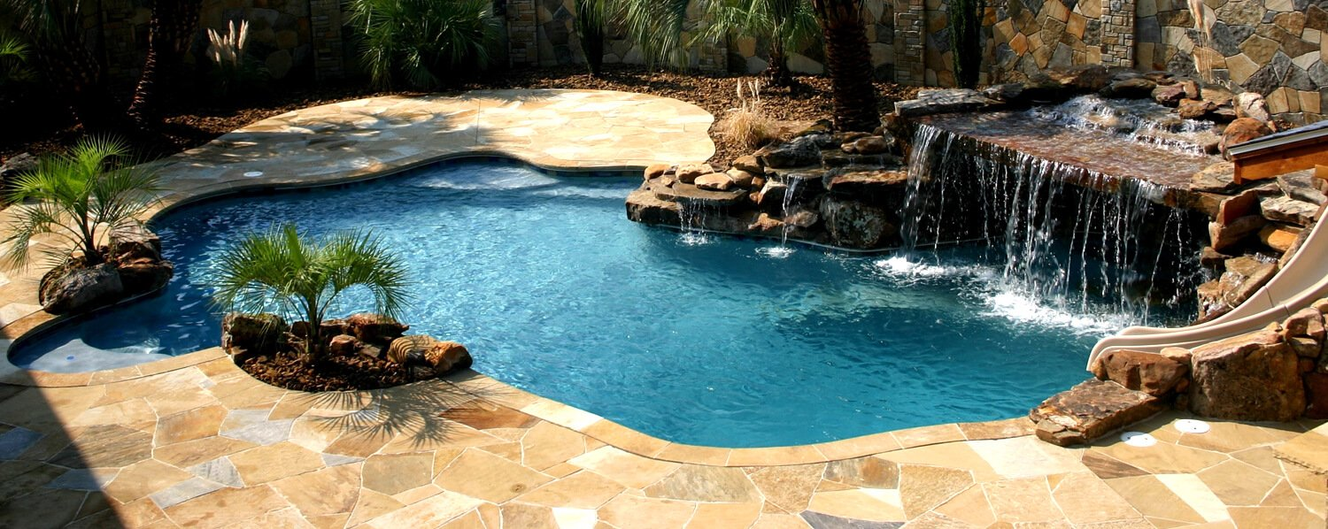 Swimming pool construction fort smith springdale north west arkansas for Swimming pools with slides north west